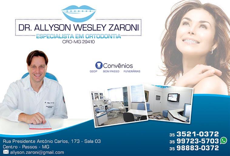 Dr. Allyson Wesley Zaroni - CRO/MG - 29410
