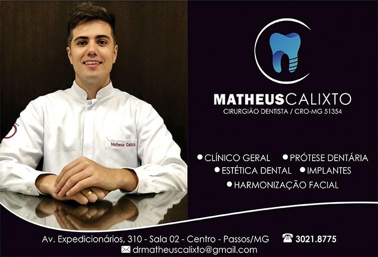 Dr. Matheus Calixto - CRO/MG - 51354