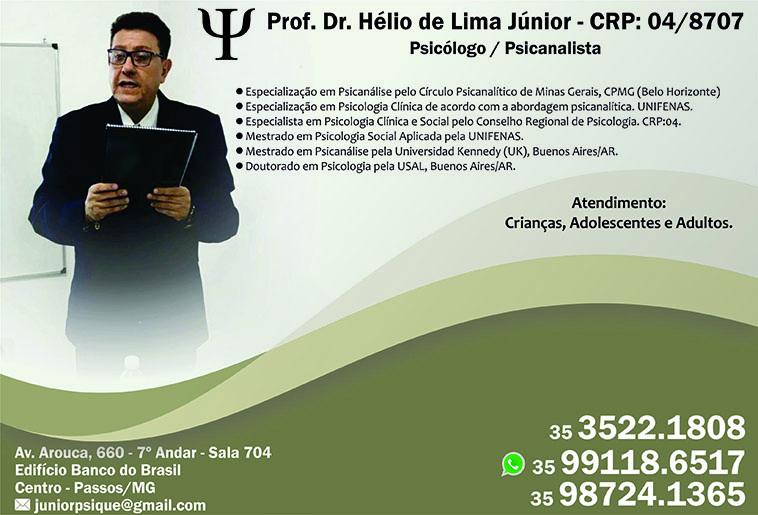 Prof. Dr. Hélio de Lima Júnior - CRP 04/8707