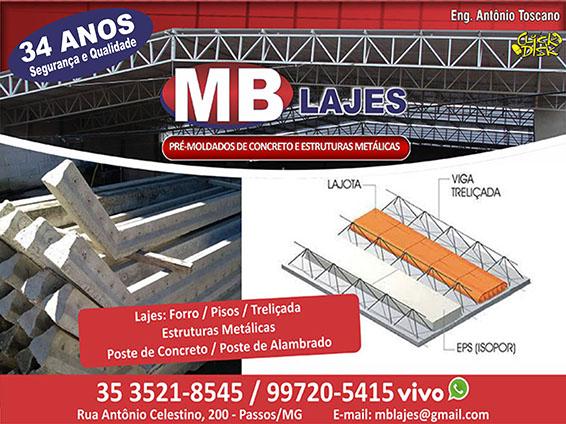 MB Lajes Pré Moldados e Estruturas Metálicas