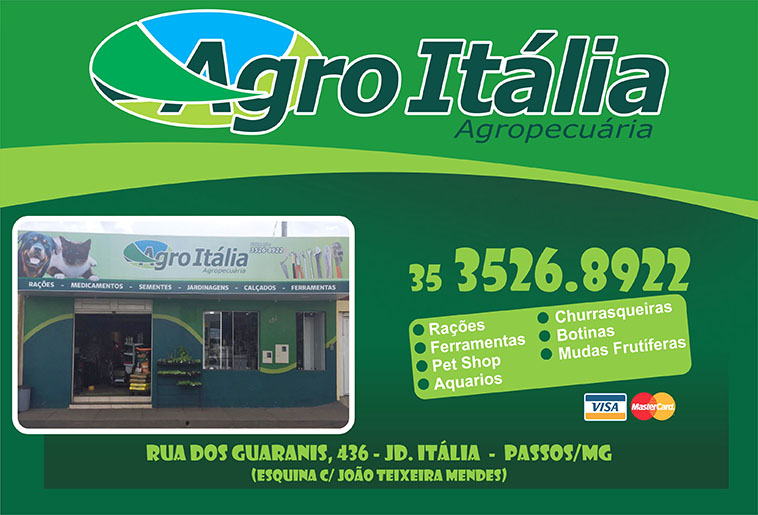 Agro Itália Agropecuária - Rações, Ferramentas, Adubos