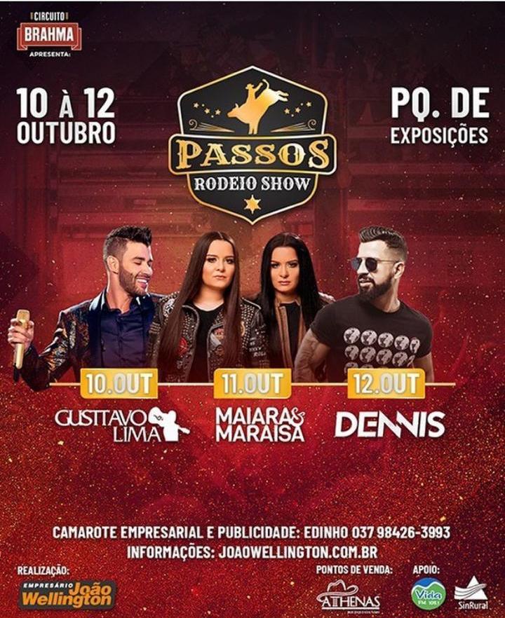 Parque de Exposições - Passos Rodeio Show - Gusttavo Lima Passos MG