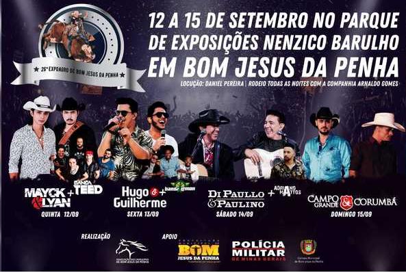 26ª Expo Bom Jesus da Penha - Hugo e Guilherme Bom Jesus da Penha MG.