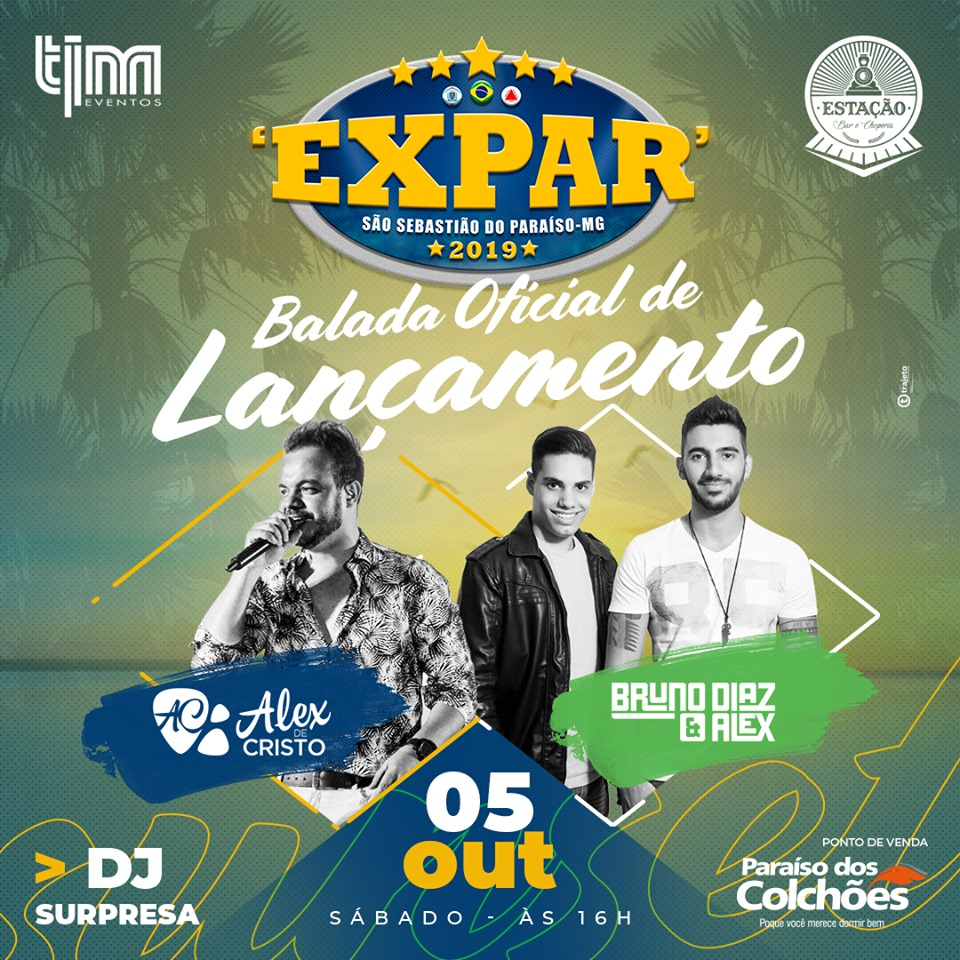 Estação Bar e Choperia - Balada Oficial de Lançamento Expar / São Sebastião do Paraíso-MG