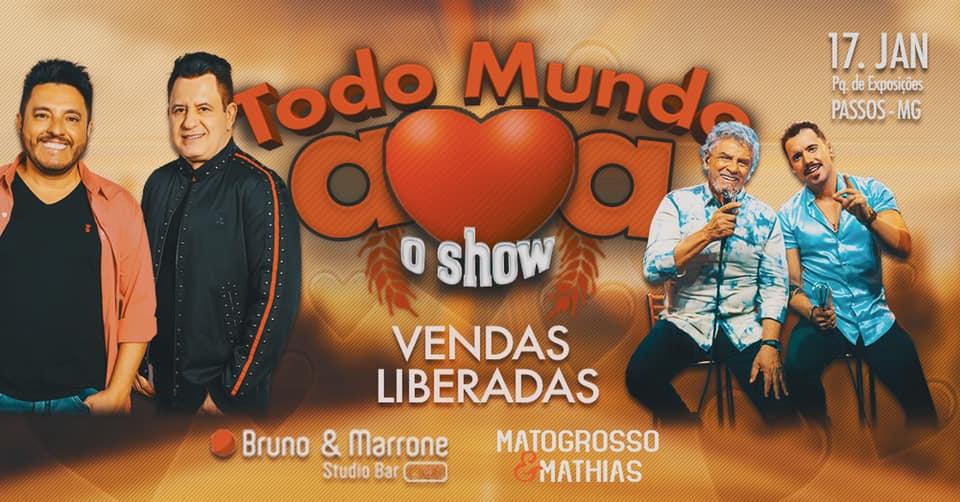 Parque de Exposições - Show Bruno e Marrone e Mato Grosso e Mathias Passos MG.