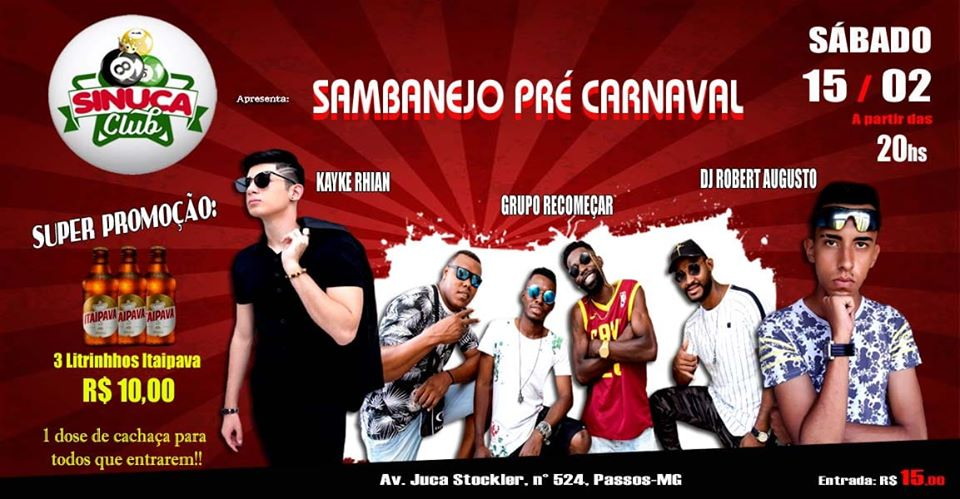 Sinuca Club - SAMBANEJO PRÉ CARNAVAL