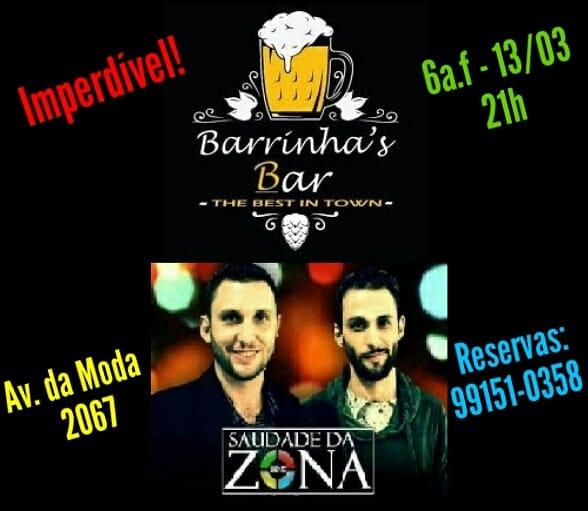 Barrinha's Bar - Saudade da Zona