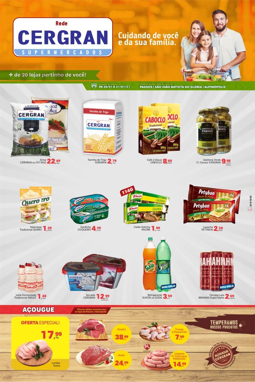 Cergran - Ofertas da Semana Supermercados Passos MG / Jornal de Ofertas Supermercados Passos MG.