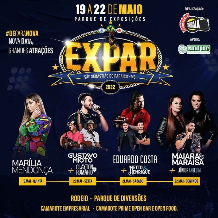 Expar 2022 - São Sebastião do Paraiso MG - 19/05 a 22/05/2022