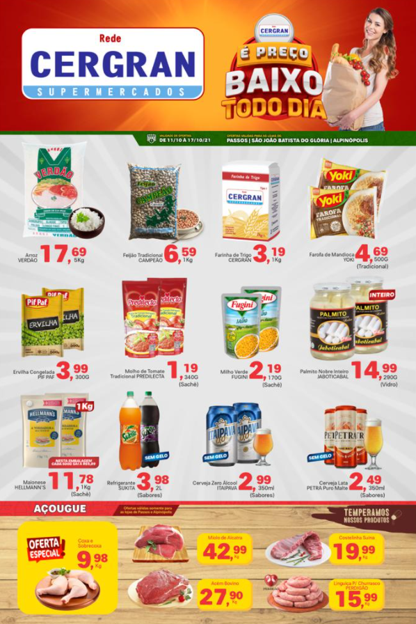 Cergran - Ofertas da Semana Supermercados Passos MG / Jornal de Ofertas Supermercados